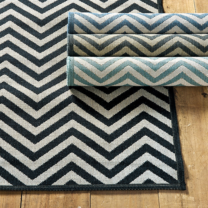 Chevron Stripe Indoor/Outdoor Rug | Ballard Designs