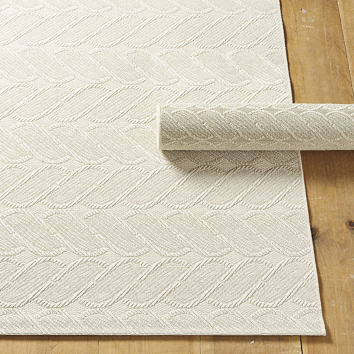 Cable Knit Indoor Outdoor Rug