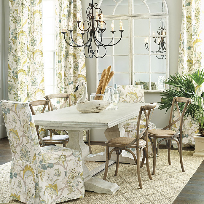 Andrews double pedestal dining table 96