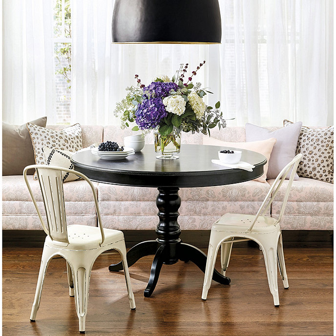 sidney dining table 42 inch - Black Dining Room Table