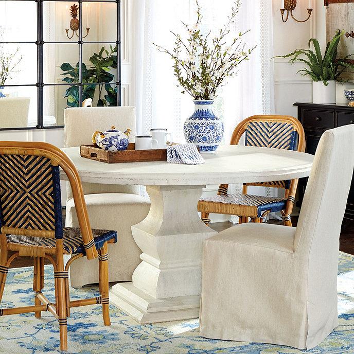 Ballard Design Kitchen Chairs: Andrews Pedestal Dining Table