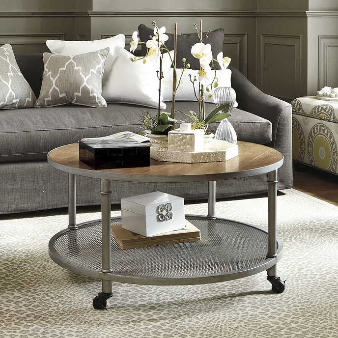 Pick Up End Table Lamps For Living Room Kmart: Industrial Round Coffee Table