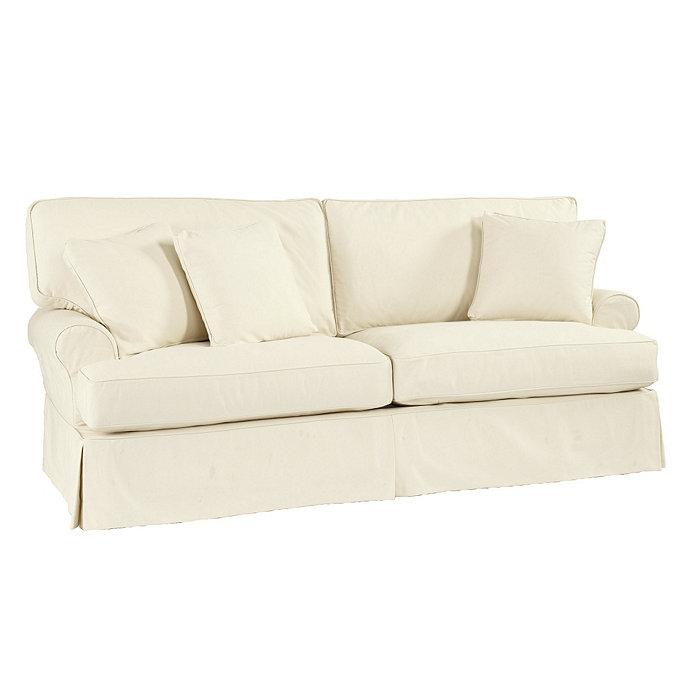 Davenport Sofa Slipcover Ballard Essentials Fabrics