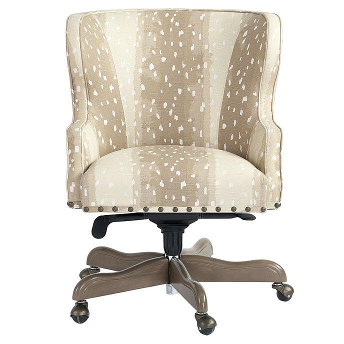 Suzanne Kasler Carson Desk Chair In Antelope Brown