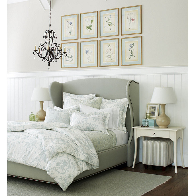 Wilshire Upholstered Bed With Brass Nailheads