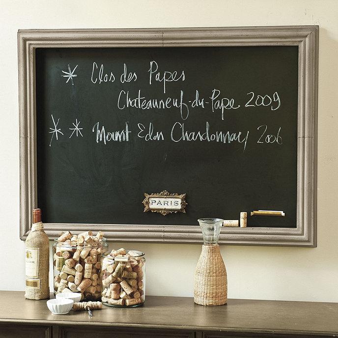 rectangular magnetic chalkboard