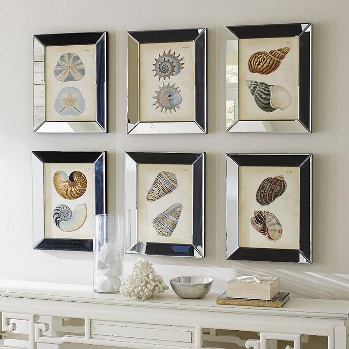 shells in mirror frame art - Mirrored Frames
