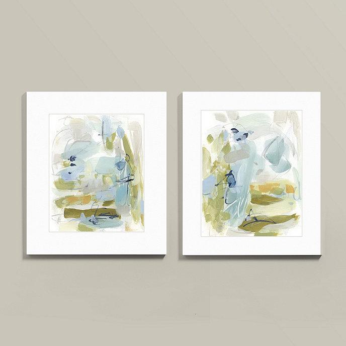 Suzanne Kasler Reflecting Abstract Framed Art | Ballard Designs