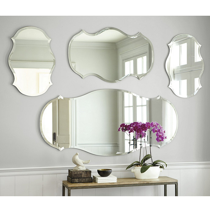 Audrey Mirror Audrey Frameless Mirror Wide Beveled