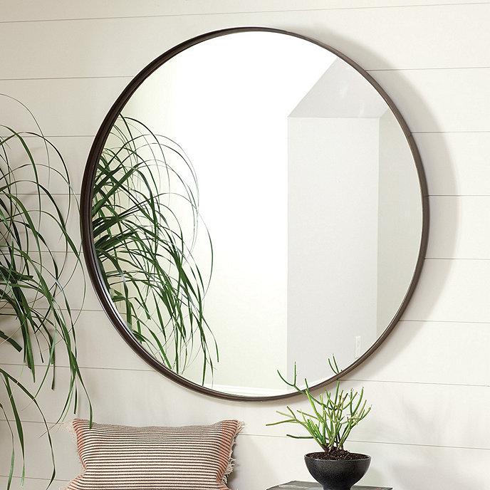 Thomas round mirror ballard designs for Circle mirror designs