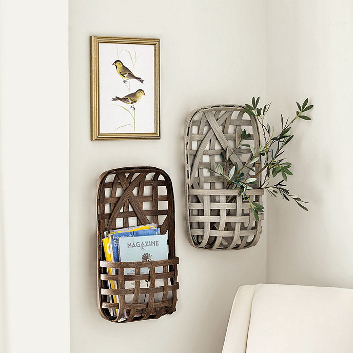 Tobacco basket wall pocket