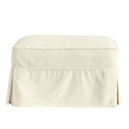 Hollis Ottoman Slipcover - Special Order Fabrics