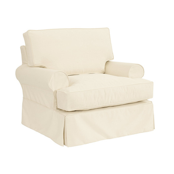 Superbe Davenport Club Chair Slipcover   Special Order Fabrics
