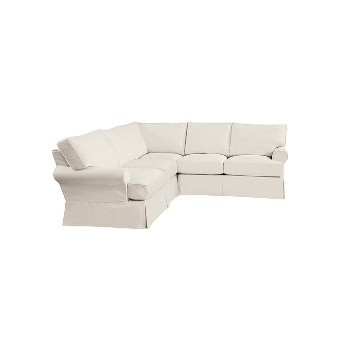 Attrayant Davenport 3 Piece Sectional   Slipcover And Frame