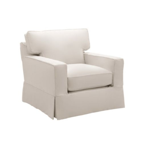 Graham Club Chair Slipcover   Special Order Fabrics