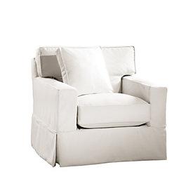 Marvelous Graham Swivel Chair Slipcover   Special Order Fabrics