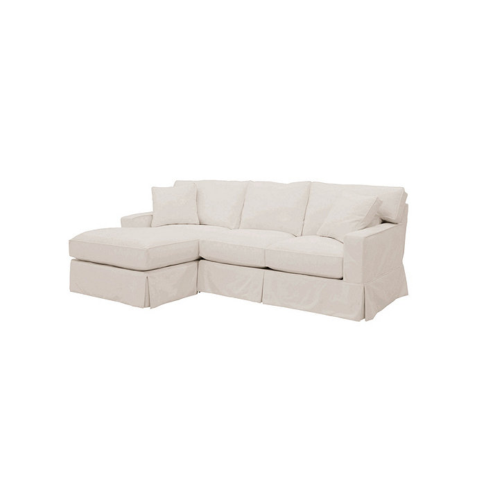 Exceptionnel Graham 2 Piece Sectional With Left Arm Chaise And Right Arm Loveseat  Slipcover   Special