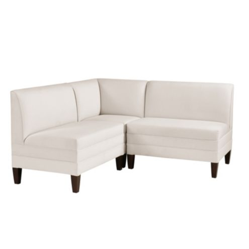 Bristol Sectional: Corner Bench with Two 36' Benches