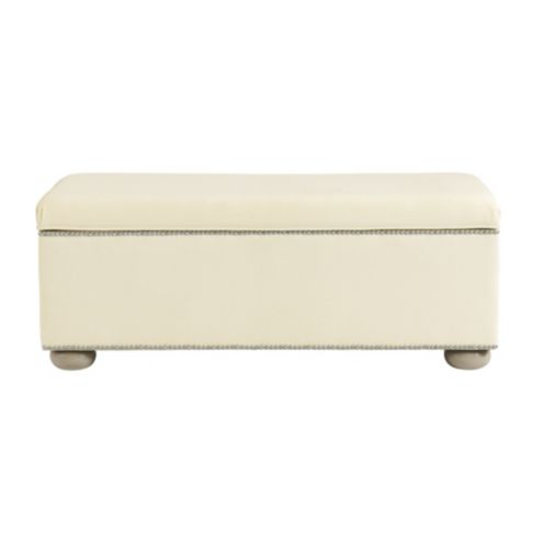 Amelia Storage Bench with Pewter Nailheads