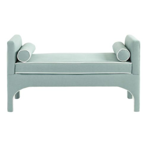 Jackson Bench in Danish Linen Sky and Blanc