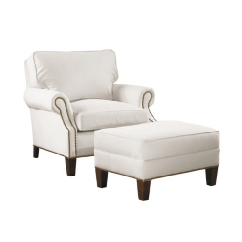 Stratford Chair and Ottoman w/ Ultra Comfy Cushions