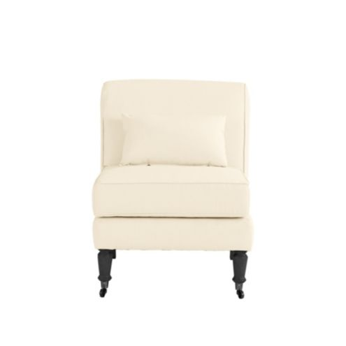 Leyland Armless Chair with Lumbar Pillow