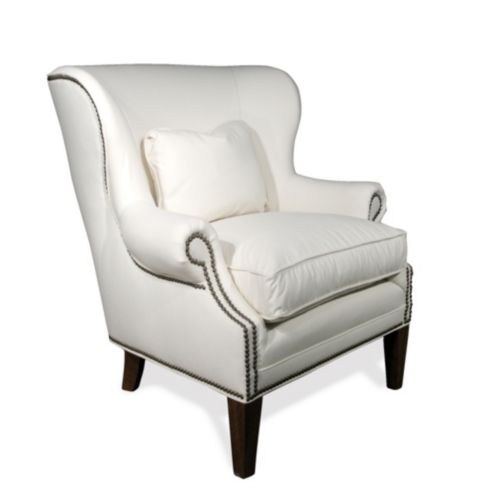 Martel Wing Chair with Nailhead Trim