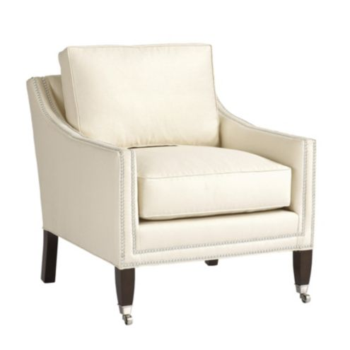 Griffin Club Chair with Pewter Nailheads