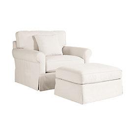 Baldwin Upholstered Club Chair And Ottoman