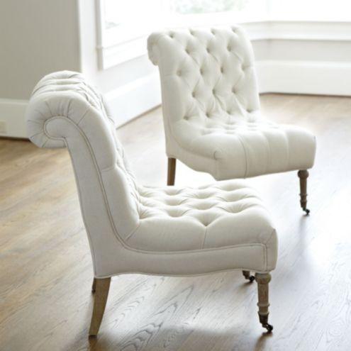 Cecily Armless Chair | Ballard Designs