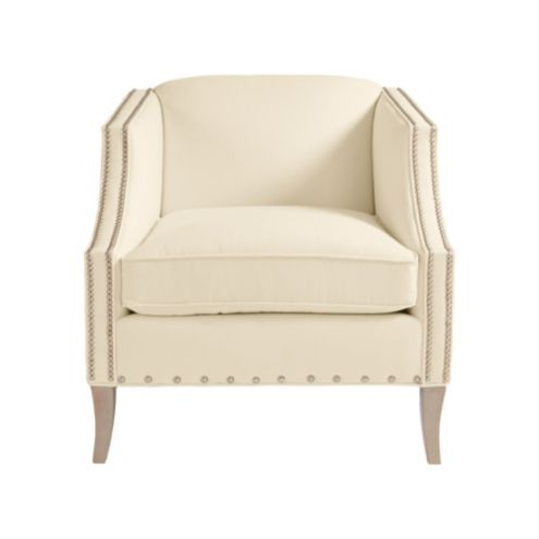 Nadia Club Chair with Pewter Nailheads