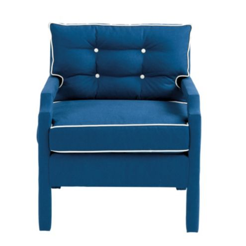 Robbie Upholstered Chair in Everyday Linen Marine -