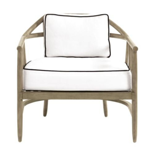 New York Chair in Linen White and Garrison