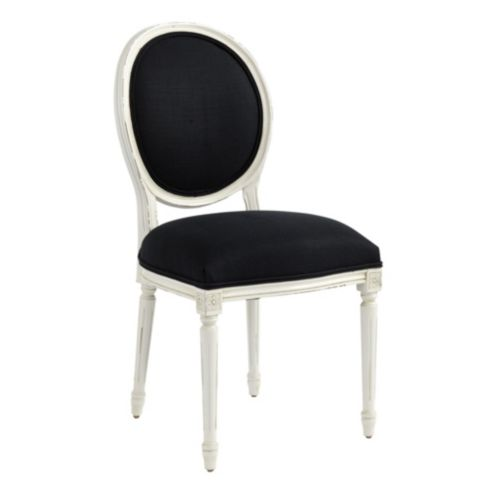Louis XVI Oval Back Chair in Garrison Ebony