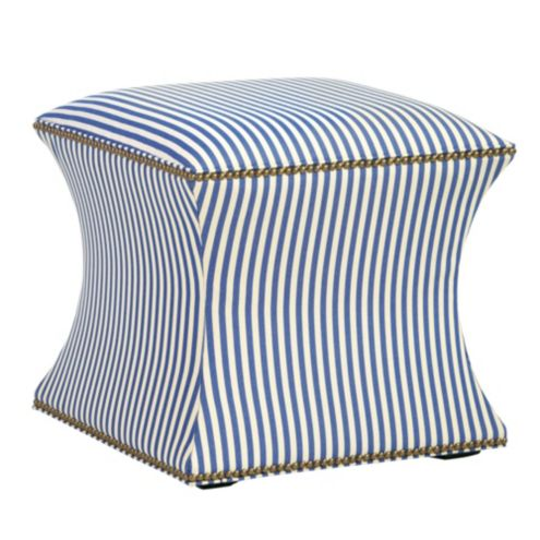 Courbe Ottoman in Robins Stripe Azure
