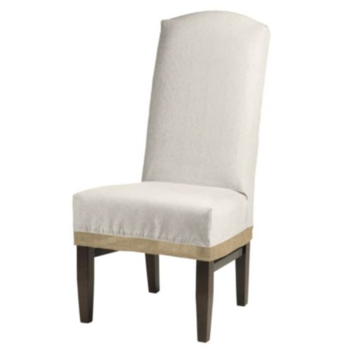 Campani Dining Chair Slipcover with Burlap Trim