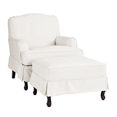 Chair u0026 Ottomans  sc 1 st  Ballard Designs : chaise lounge slip covers - Sectionals, Sofas & Couches
