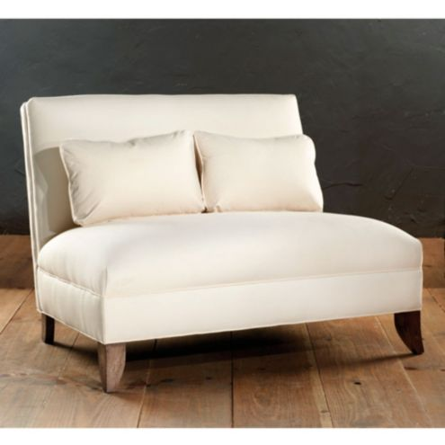 Westside Armless Settee | European-Inspired Home Furnishings