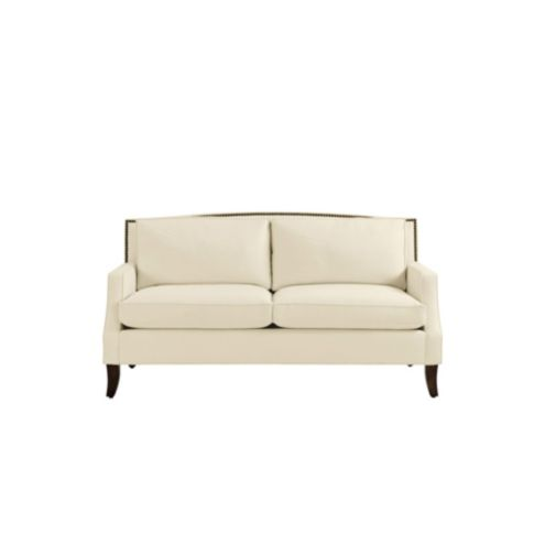 Carlton Apartment Sofa with Brass Nailheads