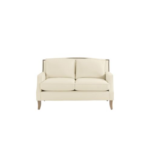 Carlton Loveseat with Brass Nailheads