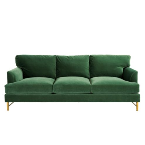 Kathryn Sofa in Queens Velvet Emerald