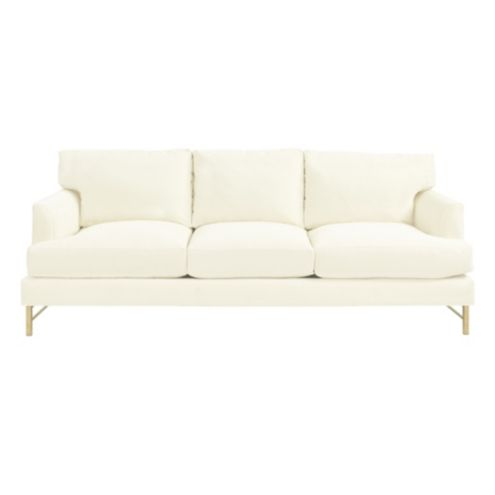 Kathryn Sofa in Queens Velvet Snow - Stocked