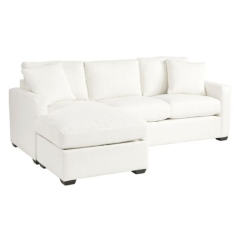 Orson Reversible Sectional in Davidson Herringbone Ivory -