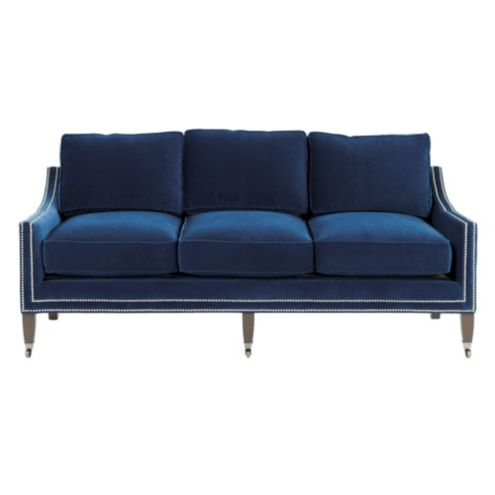 Griffin Sofa in Queens Velvet Indigo - Stocked