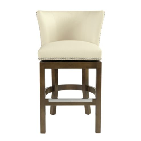 Shelton Barstool with Pewter Nailheads