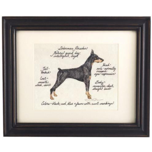 Doberman Pinscher Black Dog Print
