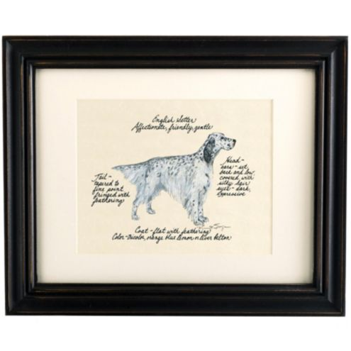 English Setter Blue Belton Dog Print