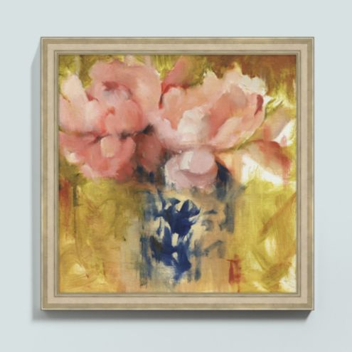 Peonies in Blue Art