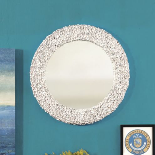 Limpet Round Shell Mirror European Inspired Home