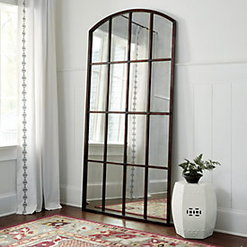 Amiel Arch Aged Brown Antiqued Mirror